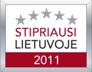 """CREDIT INFO – sertifikatas """"Stipriausi Lietuvoje 2011"""""""