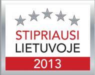 CREDIT INFO – sertifikatas Stipriausi Lietuvoje 2013